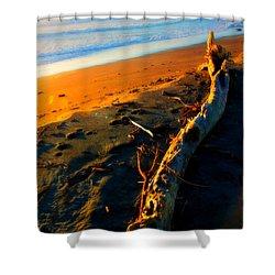 Shower Curtain featuring the photograph Hokitika Beach New Zealand by Amanda Stadther
