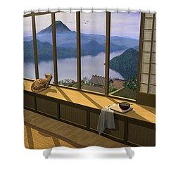 Hokusai Shower Curtain by Cynthia Decker