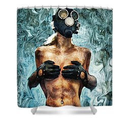Hold Me If I M Dying 2 Shower Curtain by Stelios Kleanthous