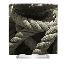 Hold On Black And White Sepia Shower Curtain