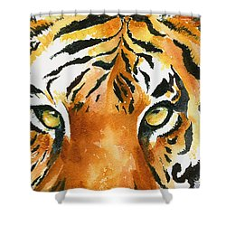 Hold That Tiger Shower Curtain by Karen Mattson