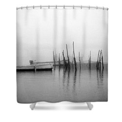 Holding Nets Shower Curtain by Skip Willits