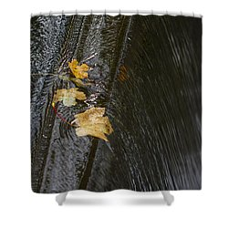 Holding On To The Edge. Shower Curtain