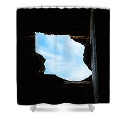 Shower Curtain featuring the photograph Hole In The Roof  by Gary Heller