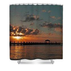Holgate Bay Sunset Shower Curtain