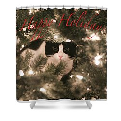 Holiday Card Shower Curtain by Shoal Hollingsworth