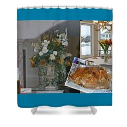 Holiday Collage Shower Curtain
