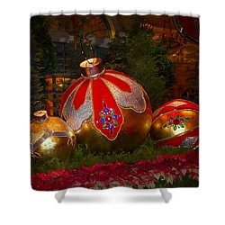 Holiday Decorations Shower Curtain by Lucinda Walter