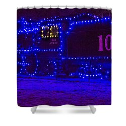 Holiday Express Train Shower Curtain by Steven Bateson