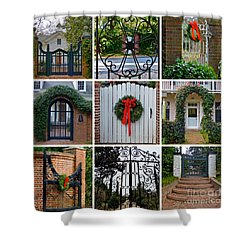 Holiday Gates Of Aiken's Winter Colony Shower Curtain