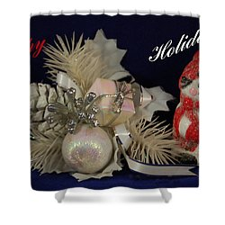 Holiday Greeting Shower Curtain