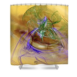 Shower Curtain featuring the digital art Holiday In Cambodia by Jeff Iverson