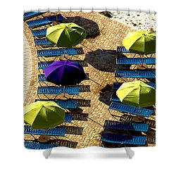 Holiday Shower Curtain by Kathy Bassett