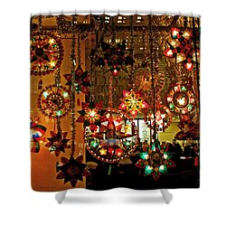 Shower Curtain featuring the photograph Holiday Lights by Suzanne Stout