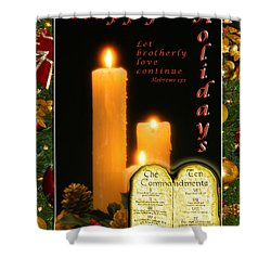 Holiday Love Declaration Shower Curtain