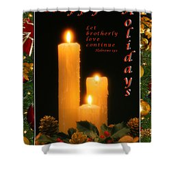 Holiday Love Declaration2 Shower Curtain