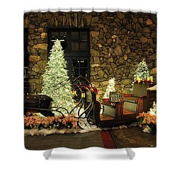 Holiday Sleigh Hsp Shower Curtain by Jim Brage