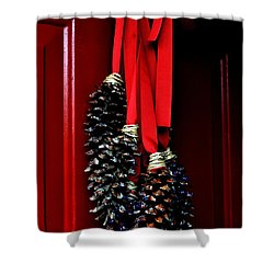 Shower Curtain featuring the photograph Holiday Welcome by Carlee Ojeda