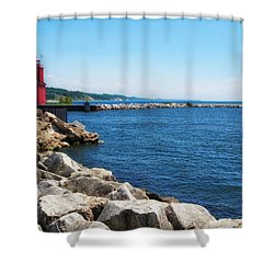 Holland Harbor Light Shower Curtain