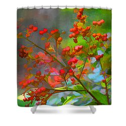 Holly Berry Shower Curtain