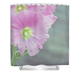 Hollyhock Shower Curtain by Lynn Bolt
