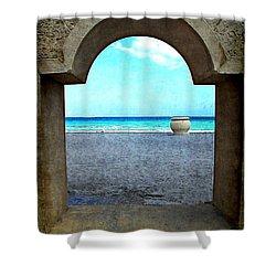 Hollywood Beach Arch Shower Curtain
