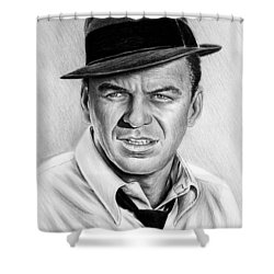 Hollywood Collection Ole Blue Eyes Shower Curtain by Andrew Read