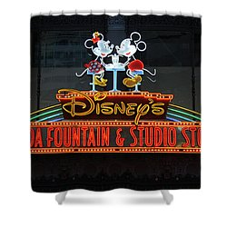 Hollywood Disney Shower Curtain by David Nicholls