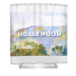 Hollywood Sign California Shower Curtain