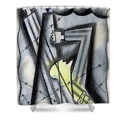 Holocaoust Shower Curtain by Leon Zernitsky