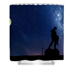 Holocaust Memorial - Night Shower Curtain by Nishanth Gopinathan