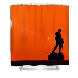 Holocaust Memorial - Sunset Shower Curtain by Nishanth Gopinathan
