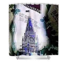 Holographic Parlement Shower Curtain by Danielle  Parent