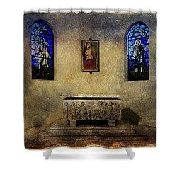 Holy Grunge Shower Curtain