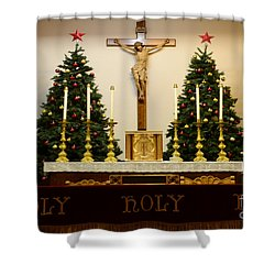 Holy Holy Holy Shower Curtain by Bob Christopher