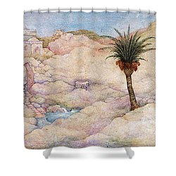 Holy Land Shower Curtain by Michoel Muchnik