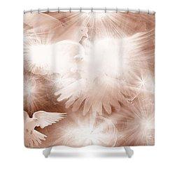Holy Light Shower Curtain