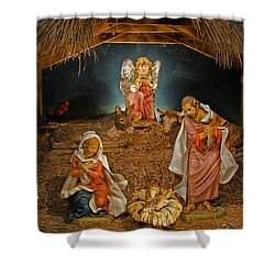 Holy Night Shower Curtain by Susan  McMenamin
