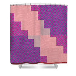 Shower Curtain featuring the photograph Holy Purple Diamond Pattern And Silken Light Crystal Across by Navin Joshi
