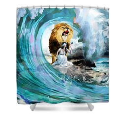 Holy Roar Shower Curtain by Dolores Develde