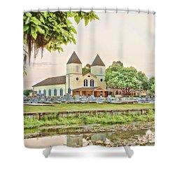 Holy Rosary Church Shower Curtain by Scott Pellegrin