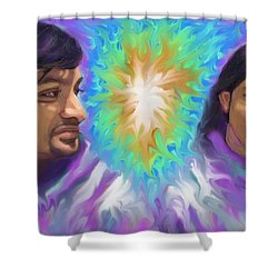 Shower Curtain featuring the painting Holy Spirit Be-livers by Hidden  Mountain