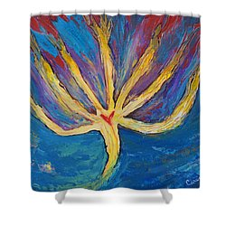 Holy Spirit Which Dwells In You Shower Curtain by Cassie Sears