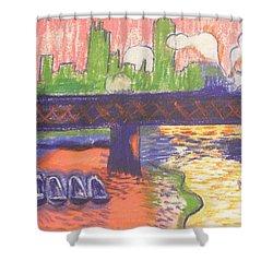 Homage To' Derain' Westminster Bridge 1906 Shower Curtain