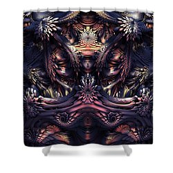 Homage To Giger Shower Curtain by Lyle Hatch