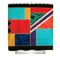Homage To Inlay #1 Shower Curtain by Karyn Robinson