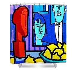 Homage To Modigliani Shower Curtain by John  Nolan