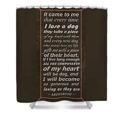 Homage To The Dogs In Our Lives Shower Curtain by Movie Poster Prints