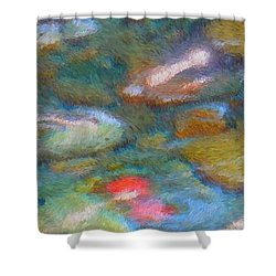 Homage To Van Gogh 1 Shower Curtain by Carol Groenen