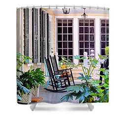 Veranda - Charleston, S C By Travel Photographer David Perry Lawrence Shower Curtain